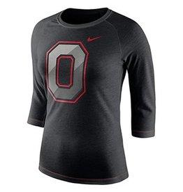 Nike Ohio State University Black Champ Drive Long Sleeve Crew T-Shirt