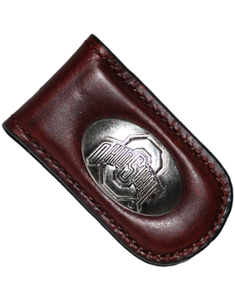 Ohio State Buckeyes Leather Concho Money Clip