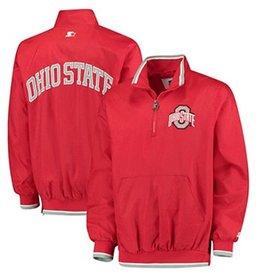 Starter Ohio State University Plus Size Starter 1/2 Zip Jacket (3X)