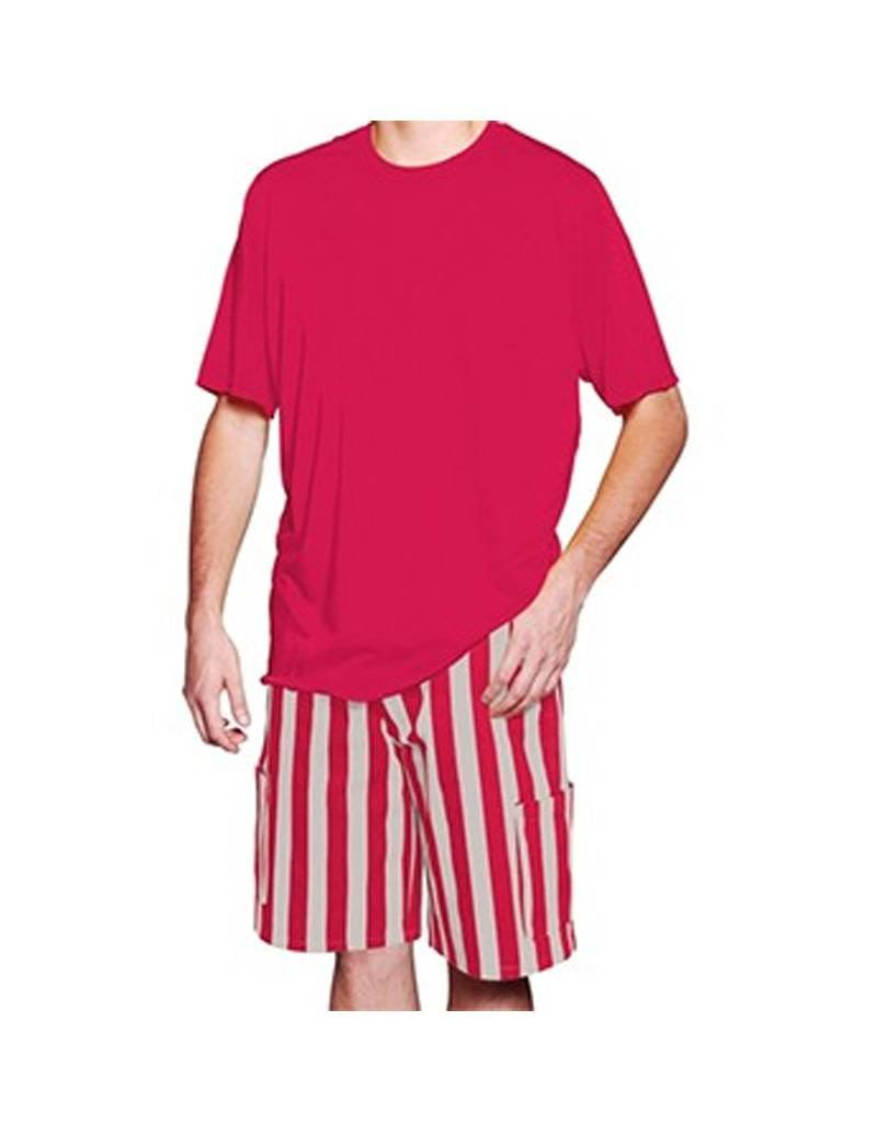 Scarlet & Grey Striped Cargo Shorts