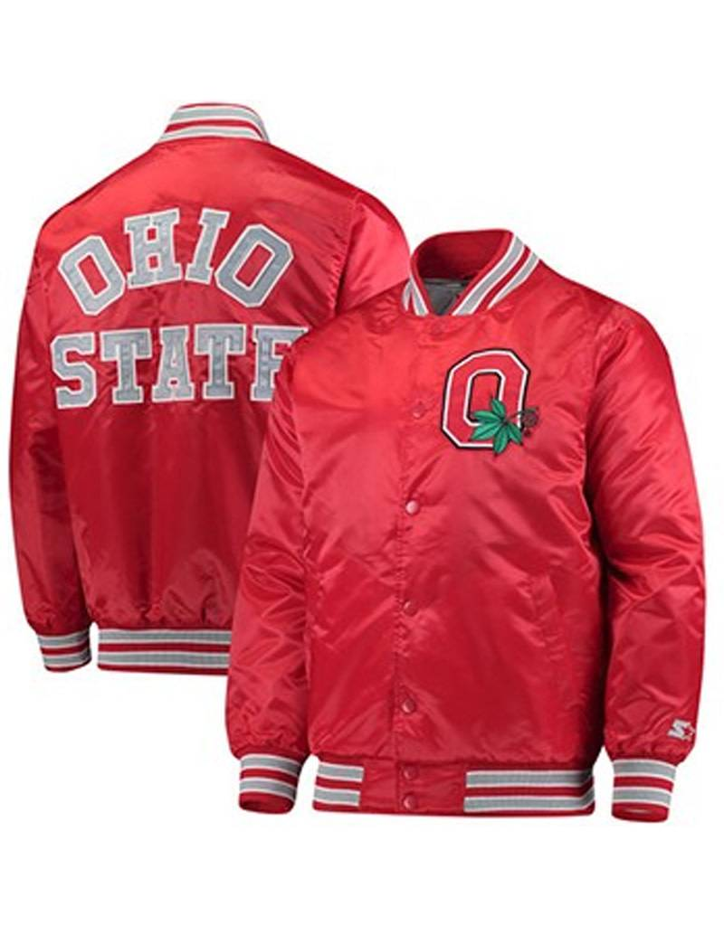 Starter Ohio State University Alumni Letterman Starter Jacket