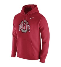 Nike Ohio State University Club Fleece Pullover Hoodie