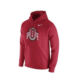 Nike Ohio State University Club Fleece Pullover Hoodie