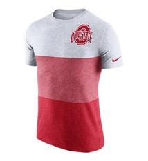 Nike Ohio State University TriBlend Blocked Panel Tee