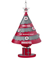 Ohio State University Tree Shaped Bell Ornament