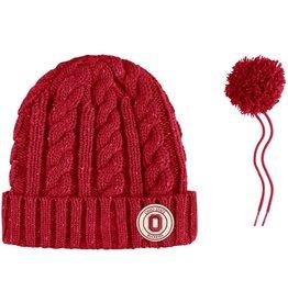 Nike Ohio State University Nike Women's Cuffed Knit Hat with Pom