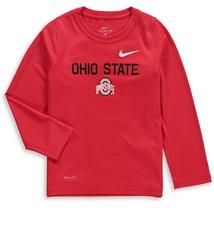 Nike Ohio State Buckeyes Nike Toddler Legend Performance Long Sleeve