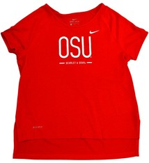 Nike Ohio State University Girls Legend Drop Tail Tee
