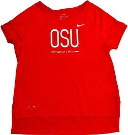 Nike Ohio State University Girls Legend Drop Tail Tee