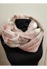 Infinity Scarf Pink Grey