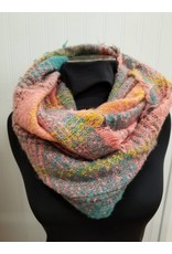 Infinity Scarf Teal Blush