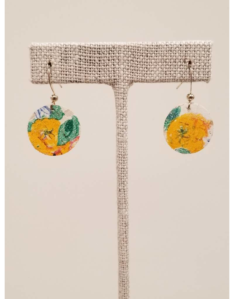 Dew Drop Earrings Floral Cork