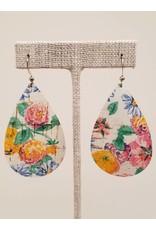Darling Earrings Floral Cork