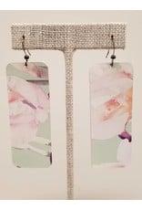 Bar Earrings Mint Floral