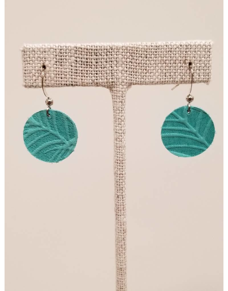 Dew Drop Earring Teal Fern