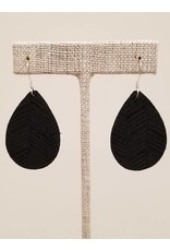 Dainty Earrings Black Chevron