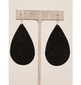 Darling Earring Black Chevron