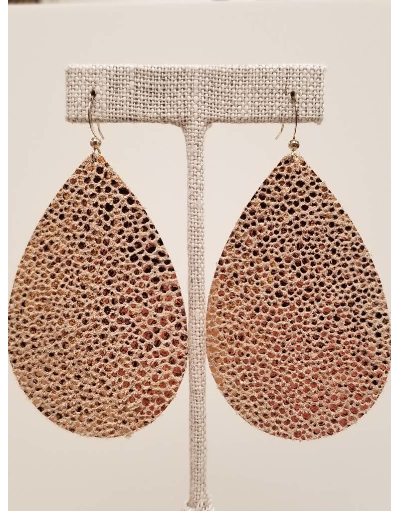 Daring Sparkly Rose Gold Earrings