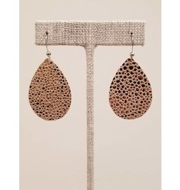 Dainty Sparkling Rose Gold Earrings