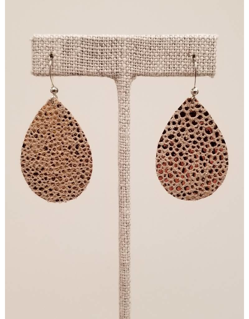 Dainty Sparkling Rose Gold Earrings