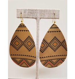 Daring Earrings Gold Tribal