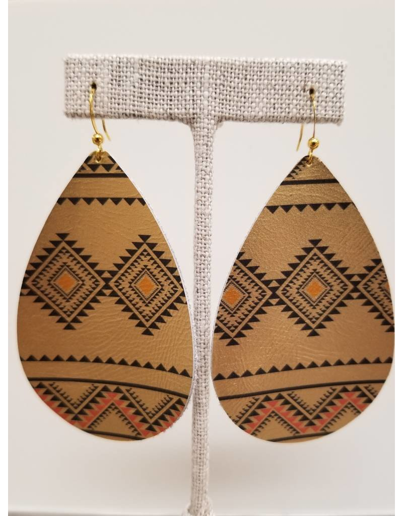 Daring Earrings Gold Tribal
