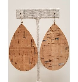Daring Silver Fleck Cork Earrings