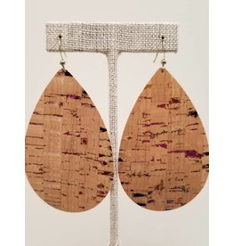 Daring Rainbow Fleck Cork Earrings
