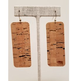 Bar Rainbow Fleck Cork Earrings