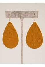Darling Earrings Saffiano Mustard
