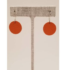 Dew Drops Earrings Saffiano Orange
