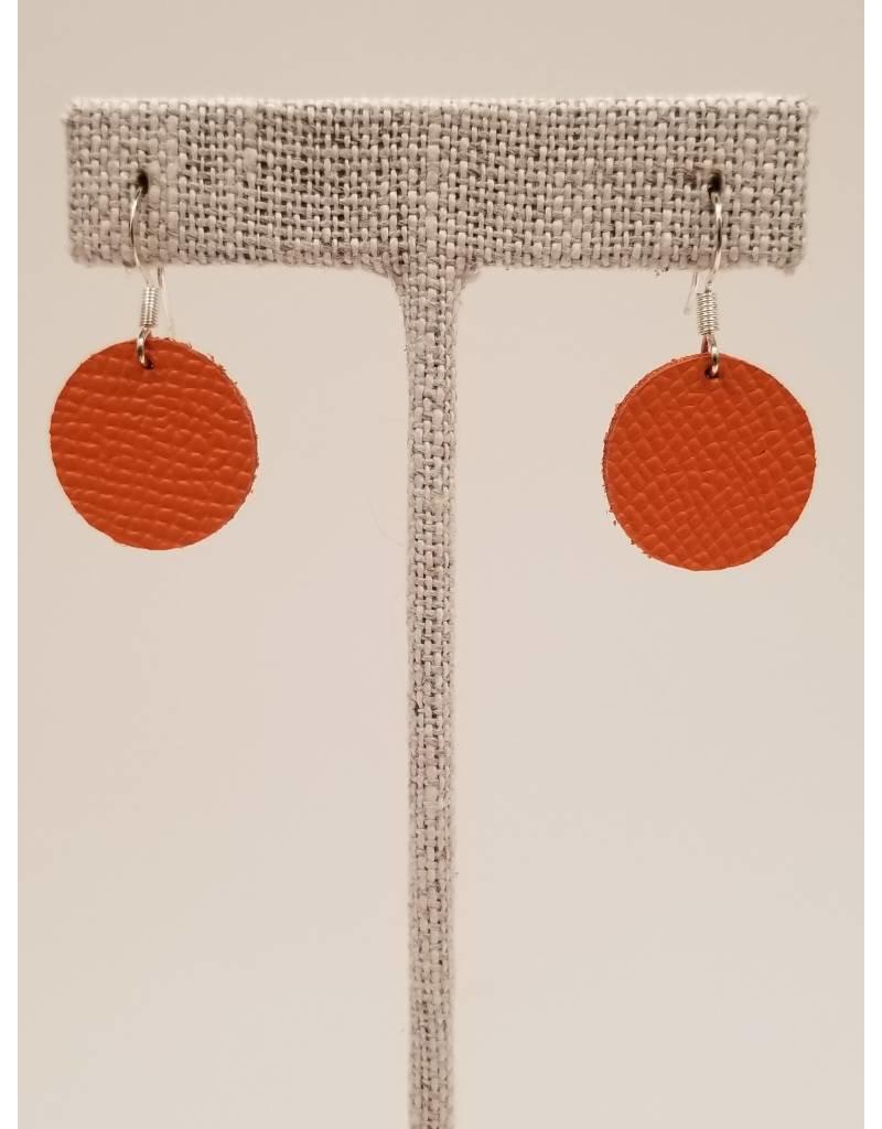 Dew Drops Earrings Saffiano Orange
