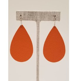 Darling Earrings Saffiano Orange