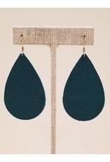 Darling Earrings Saffiano Teal
