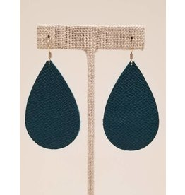 Darling Earrings Saffiano Teal