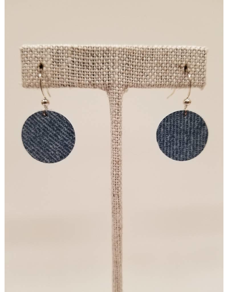 Dew Drops Denim Earrings