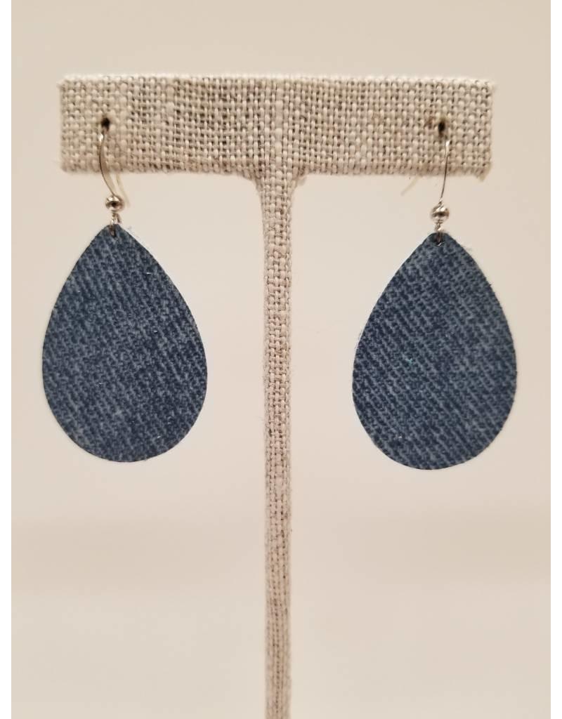Dainty Denim Earrings