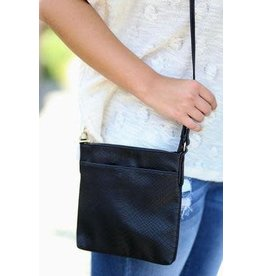 Kinzley Crossbody Snake Black