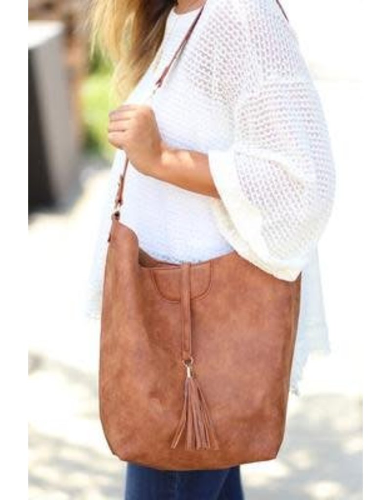 Emerson Hobo Bag Distresssed Camel
