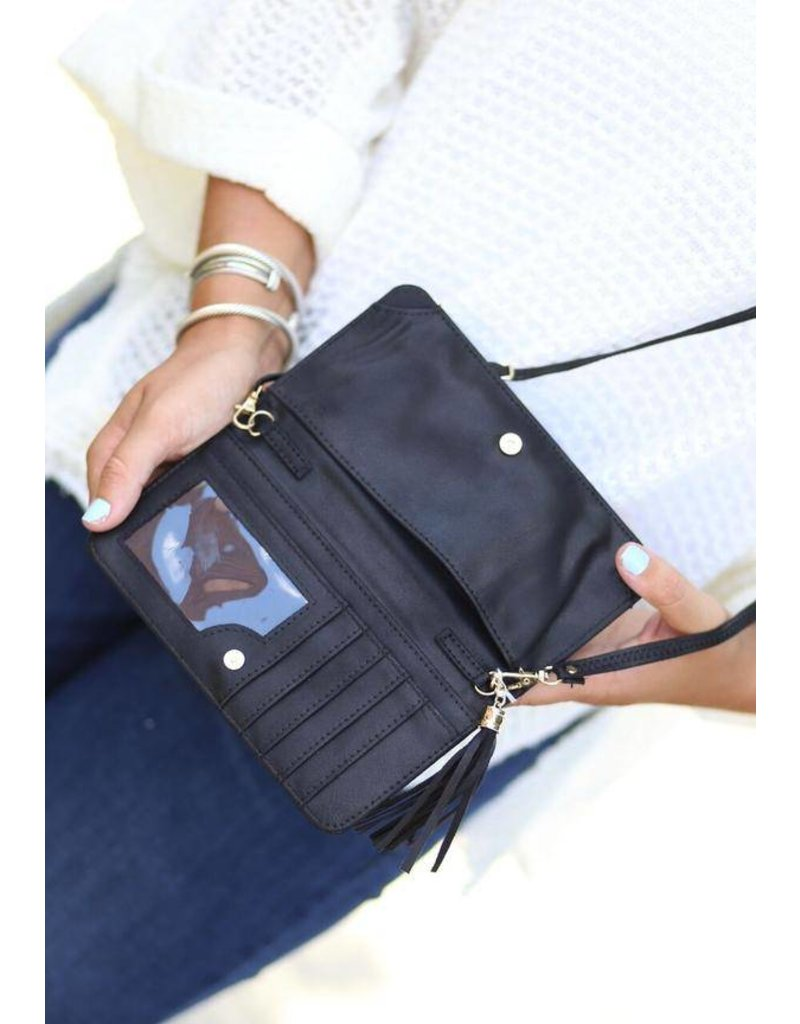 Maria Cellphone Wallet Black