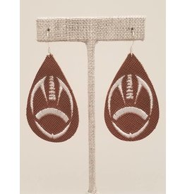 Embroidered Football Earrings
