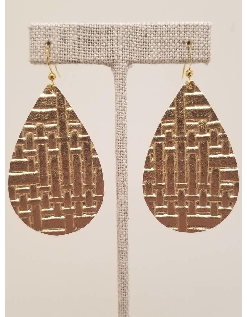 Darling Gold Basketweave Earrings