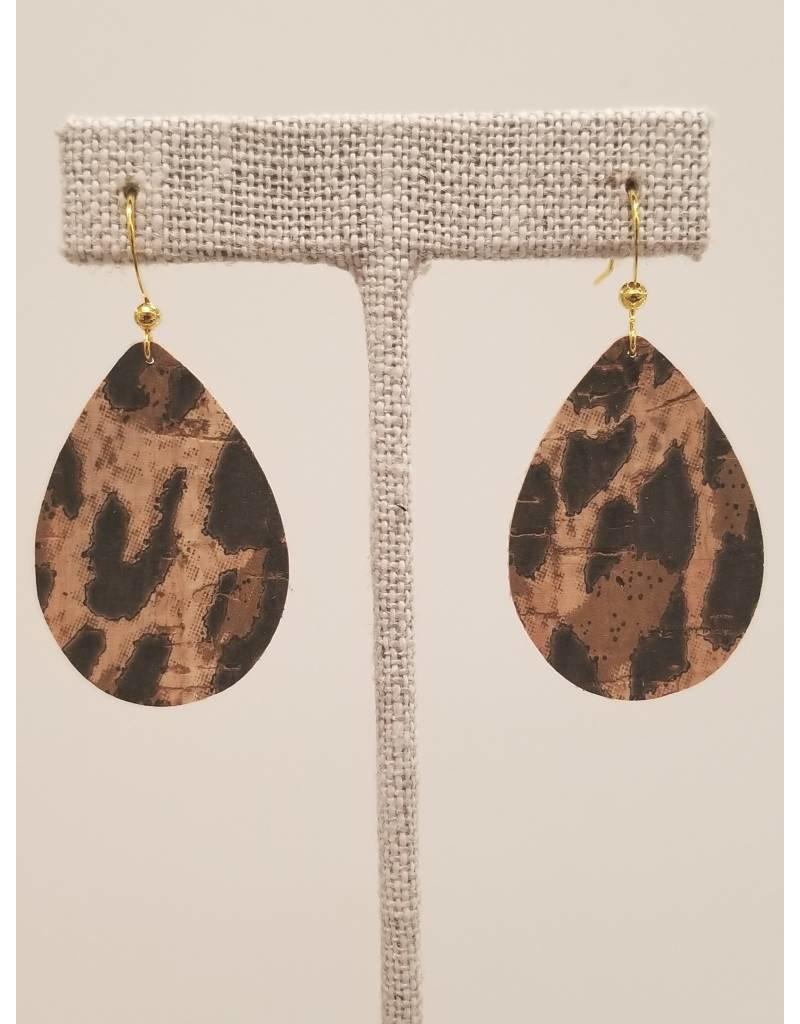 Dainty Leopard Cork Earrings