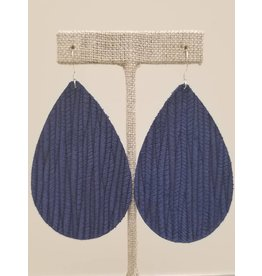 Daring Earrings Cobalt Blue Sugarcane