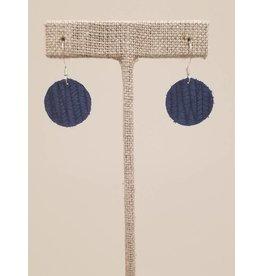Dew Drop Earrings Cobalt Blue SugarCane