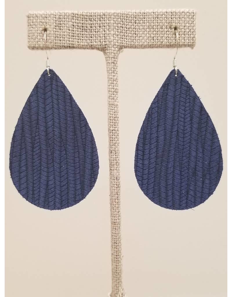 Darling Earrings Cobalt Blue SugarCane