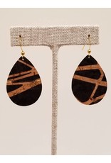 Dainty Black Splash Earrings