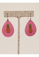 Dainty Pink Pineapple Earrings CC Exclusive