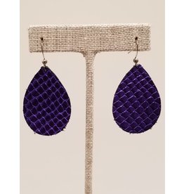 Dainty Ultra Violet Metallic Earrings