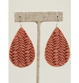 Darling Earring Dusty Rose Fishtail